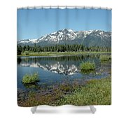 Mount Tallac Sky Projections Shower Curtain