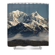 Mount Tasman And Mount Cook Southern Shower Curtain by Colin Monteath