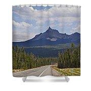 Mount Thielsen Shower Curtain