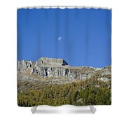 Mountain And Moon Shower Curtain