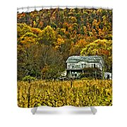 Mountain Home Painted Shower Curtain
