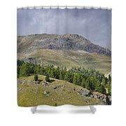 Mountain In St Moritz Shower Curtain