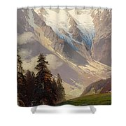 Mountain Landscape With The Grossglockner Shower Curtain