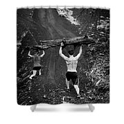 Mountain Lunges Shower Curtain