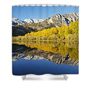 Mountain Mirrored By Lake Shower Curtain