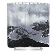 Mountain Panoramic In Winter, Spray Shower Curtain