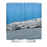 Mountain Range Along The Dempster Highway Shower Curtain