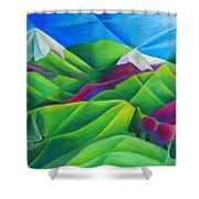 Mountain Range Shower Curtain