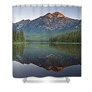 Mountain Reflection, Pyramid Mountain Shower Curtain