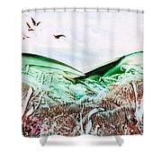 Mountain Scene Shower Curtain