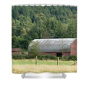 Mountain Side Farm Shower Curtain
