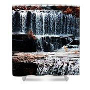 Mountain Stream Waterfall Shower Curtain