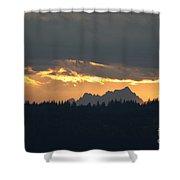 Mountain Sunrise Shower Curtain