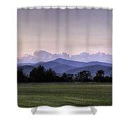 Mountain Sunset - North Carolina Landscape Shower Curtain