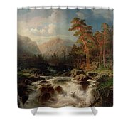 Mountain Torrent Smaland Shower Curtain
