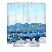 Mountain Waves Shower Curtain