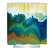 Mountainous Shower Curtain