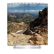 Mountains At Lassen Shower Curtain