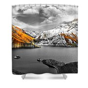 Mountains In The Valley 2 Shower Curtain