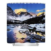 Mountains In The Winter Shower Curtain
