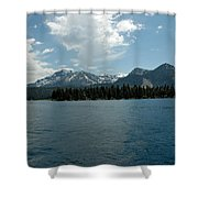 Mountains On The Lake Shower Curtain