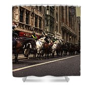 Mounted Police Shower Curtain by Rob Hawkins
