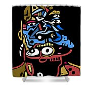 Mouthful Full Color Shower Curtain