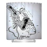 Moutia Dance - Seychelles Shower Curtain