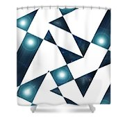 Moveonart Abstractchristmas Shower Curtain