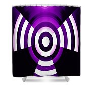 Moveonart Abstractguardianangelinpink Shower Curtain