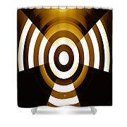 Moveonart Abstractguardianangelinyellow Shower Curtain