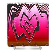 Moveonart Abstractheart Shower Curtain