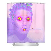 Moveonart Alienhere Shower Curtain