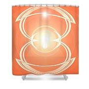 Moveonart Blessingoflight Shower Curtain