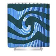 Moveonart Coolbluewave Shower Curtain