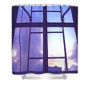 Moveonart Crossinjacobswindow Shower Curtain