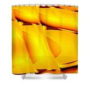 Moveonart Happyorangebubblewaves Shower Curtain