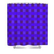 Moveonart Justbluessquares Shower Curtain