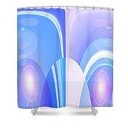Moveonart Peacefulfutureduo Shower Curtain