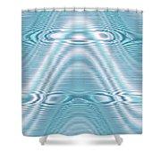 Moveonart Peacewavegreen Shower Curtain