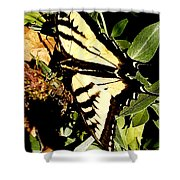 Moveonart Yellowbutterflyfriend Shower Curtain