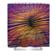 Moving Abstract Lights Shower Curtain