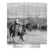 Moving The Herd-2 Shower Curtain