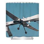 Mq-1 Predator Drone Shower Curtain