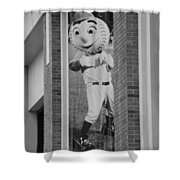 Mr Met In Black And White Shower Curtain