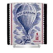 Mrs Graham The Balloonist Shower Curtain