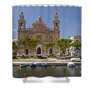 Msida Church Shower Curtain
