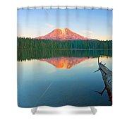 Mt. Adams Alpenglow Shower Curtain