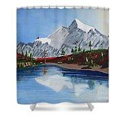 Mt Challenger Shower Curtain