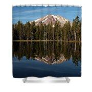 Mt Lassen In Summit Lake Shower Curtain